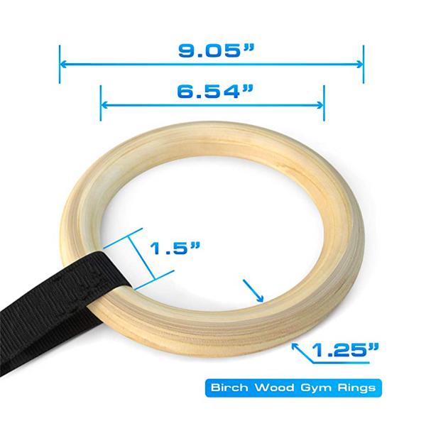 GYM Wood Rings 3832